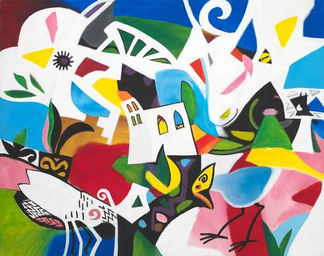 Isolde Wawrin | Kirche, Fliege, Vogel, Ziege / Church, Fly, Bird, Goat / Церковь, муха, птица, коза